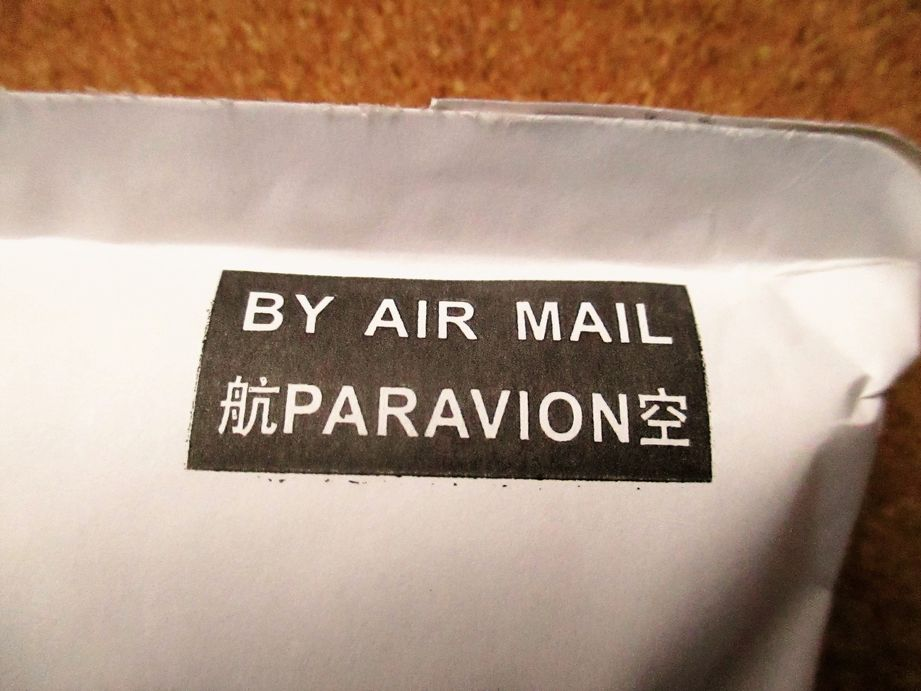 BY AIR MAIL 航空便 PARAVION