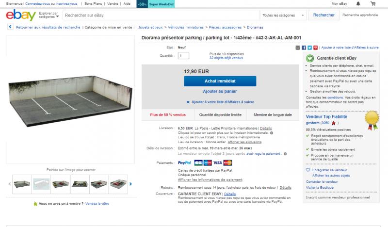 ebay Diorama parking