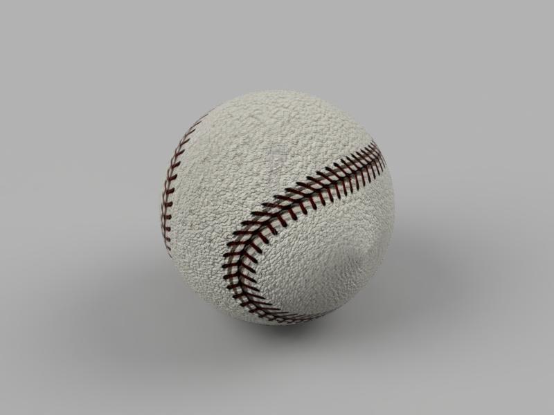 野球ボール テクスチャ マップ 球状