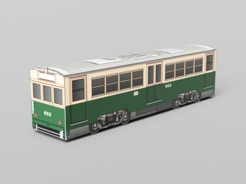 広島電鉄 モ650形652 標準塗装