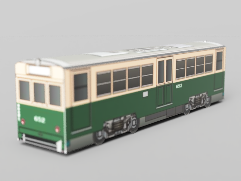 広島電鉄 モ650形652 被写界深度
