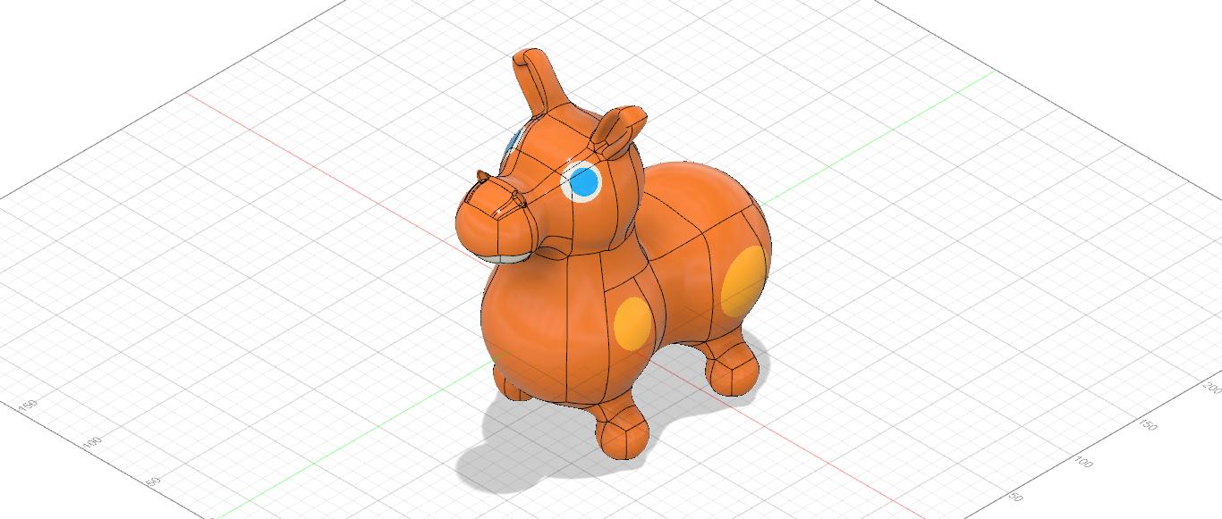 馬のおもちゃロディ モデリング