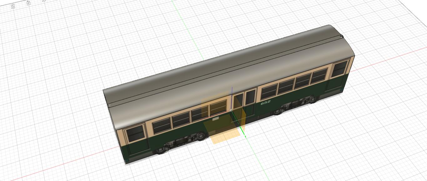 広島電鉄 モ650形652 デカール下地