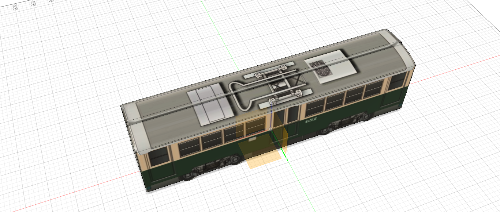 広島電鉄 モ650形652 デカール貼り付け
