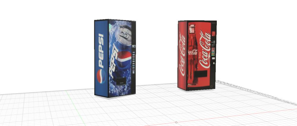 コカ・コーラ&ペプシコーラ 自動販売機