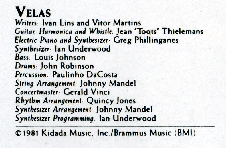 VELAS musicians