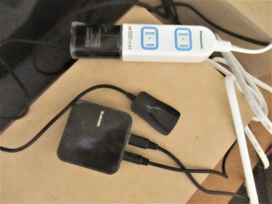 USBケーブル変換プラグと延長ケーブル