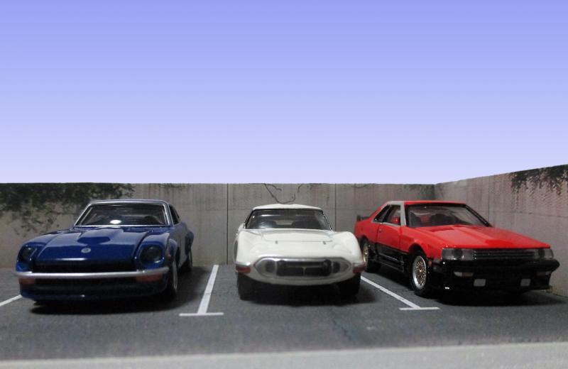 日産 フェアレディZ、トヨタ2000GT、日産 スカイライン HT 2000 ターボ RS