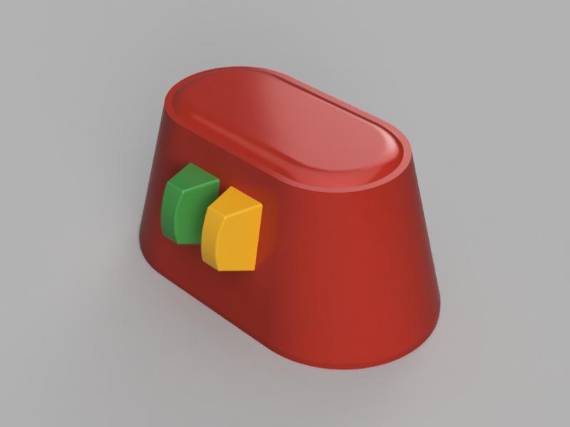 ツマミ付き容器 赤