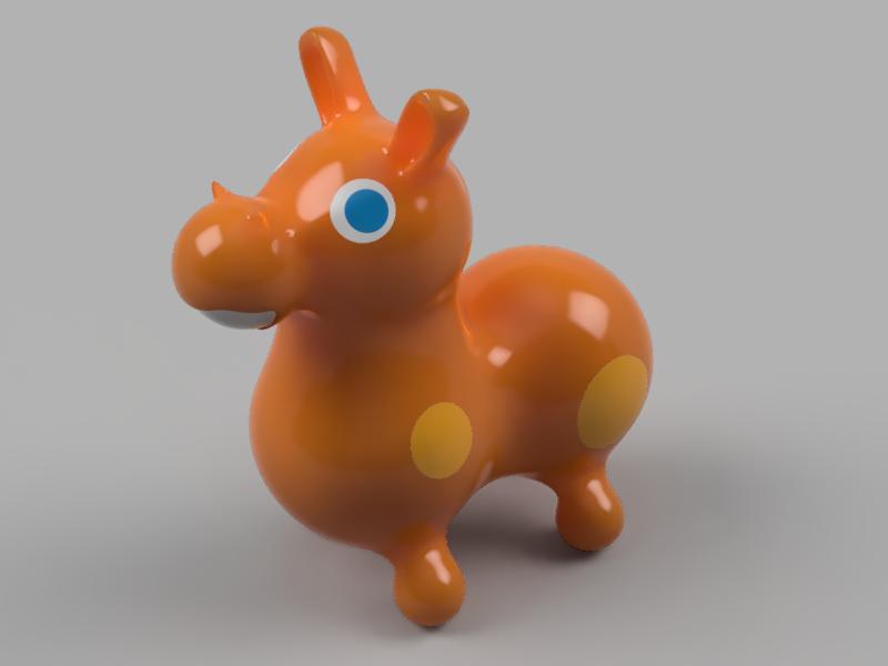 馬のおもちゃロディ レンダリング