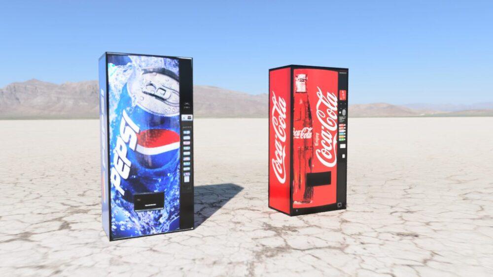コカ・コーラ&ペプシコーラ Dry lake bed
