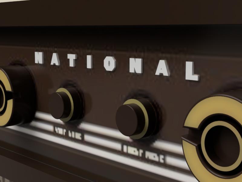 ナショナル 白黒テレビ NATIONAL 立体文字